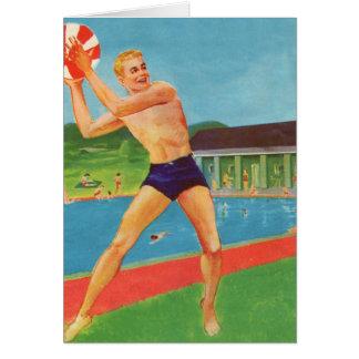 Retro Vintage Kitsch 60s Resort Ad Brochure Beach Greeting Card