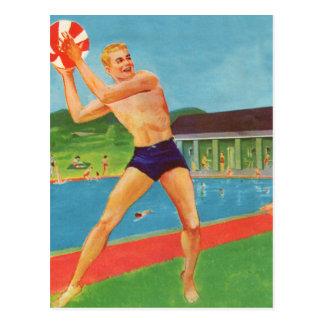 Retro Vintage Kitsch 60s Resort Ad Brochure Beach Postcard
