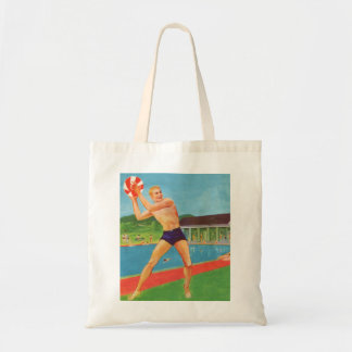 Retro Vintage Kitsch 60s Resort Ad Brochure Beach Tote Bag