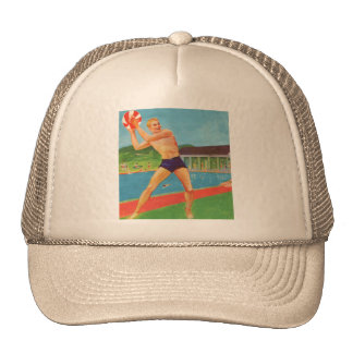 Retro Vintage Kitsch 60s Resort Ad Brochure Beach Trucker Hat