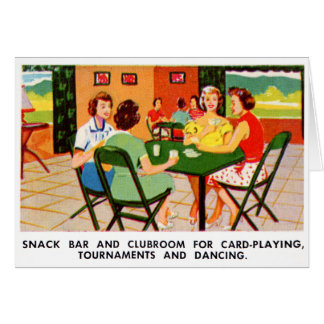 Retro Vintage Kitsch 60s Resort Ad Brochure Cards
