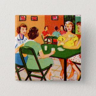 Retro Vintage Kitsch 60s Resort Ad Brochure Cards Pinback Button