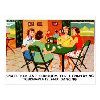 Retro Vintage Kitsch 60s Resort Ad Brochure Cards Postcard