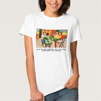 Retro Vintage Kitsch 60s Resort Ad Brochure Cards T-Shirt