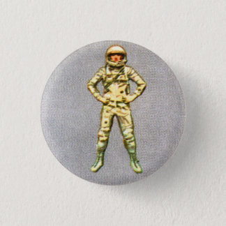 Retro Vintage Kitsch 60s Space Astronaut 6' Man Button
