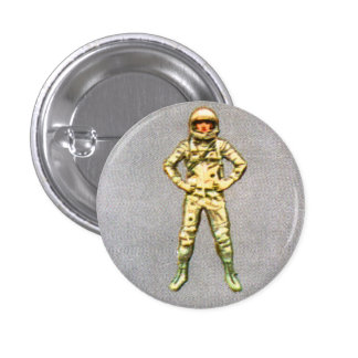 Retro Vintage Kitsch 60s Space Astronaut 6' Man Button