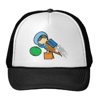 Retro Vintage Kitsch 60s Space Office Traveler Man Hats