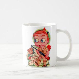Retro Vintage Kitsch 60s Valentine I'm Out Hunting Classic White Coffee Mug