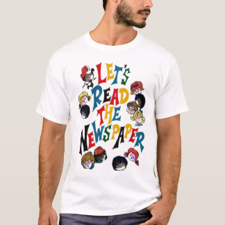 Retro Vintage Kitsch 70s Let's Read The Newspaper T-Shirt
