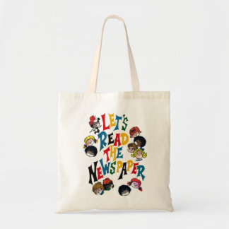 Retro Vintage Kitsch 70s Let's Read The Newspaper Tote Bag