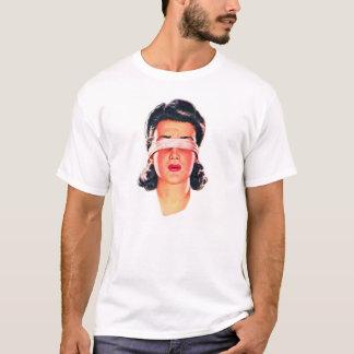 Retro Vintage Kitsch Ad 50s Women Blindfolded T-Shirt
