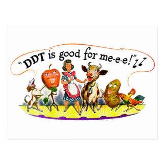 Retro Vintage Kitsch Ad DDT is Good for Me Postcard