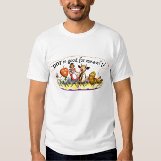 Retro Vintage Kitsch Ad DDT is Good for Me Tee Shirts