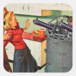 Retro Vintage Kitsch Ad Kitchen Battle Stickers