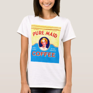 Retro Vintage Kitsch Ad Pure Made Coffee Can T-Shirt