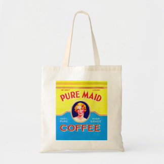 Retro Vintage Kitsch Ad Pure Made Coffee Can Tote Bag