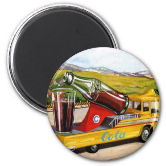 Retro Vintage Kitsch Advertising 60s Cola Truck Magnet
