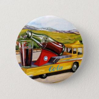Retro Vintage Kitsch Advertising 60s Cola Truck Pinback Button