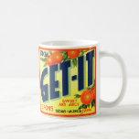Retro Vintage Kitsch Advertising Fruit Art Get It Coffee Mug