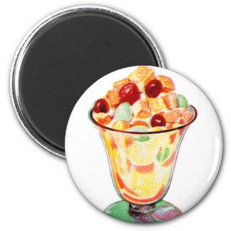 Retro Vintage Kitsch Advertising Fruit Cocktail Magnet
