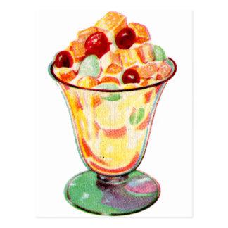 Retro Vintage Kitsch Advertising Fruit Cocktail Postcard