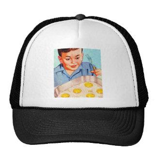 Retro Vintage Kitsch Advertisment Fried Eggs! Mesh Hats