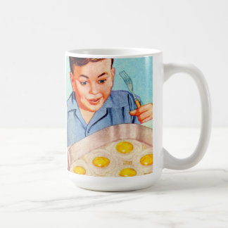 Retro Vintage Kitsch Advertisment Fried Eggs! Mugs