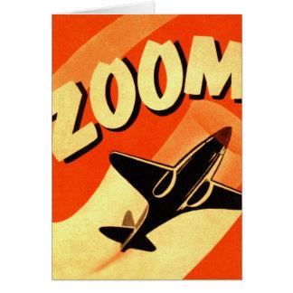 Retro Vintage Kitsch Airplane Planes Zoom Card