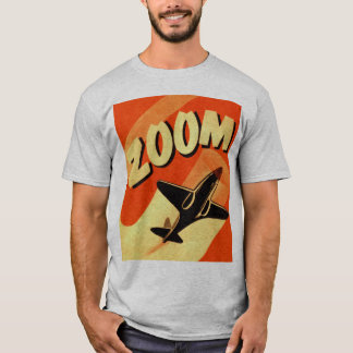 Retro Vintage Kitsch Airplane Planes Zoom T-Shirt