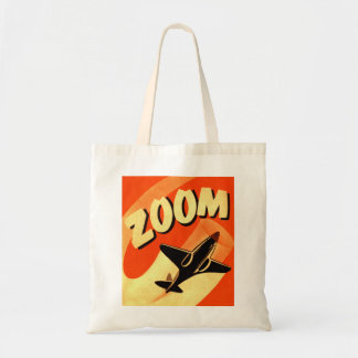 Retro Vintage Kitsch Airplane Planes Zoom Tote Bag