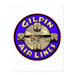 Retro Vintage Kitsch Airplanes Gilpin Airlines Postcard