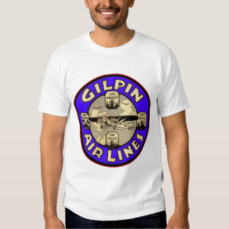 Retro Vintage Kitsch Airplanes Gilpin Airlines T Shirt