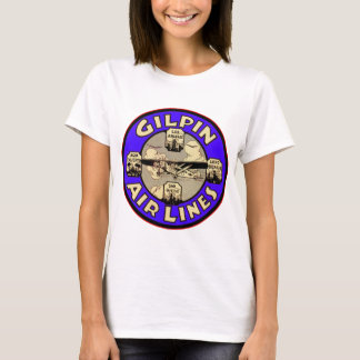 Retro Vintage Kitsch Airplanes Gilpin Airlines T-Shirt