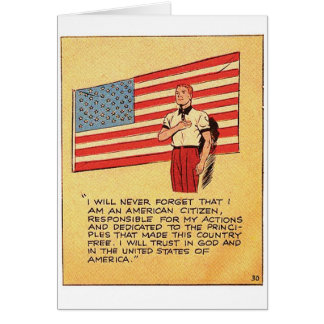 Retro Vintage Kitsch America 50s Communist Comic Greeting Card