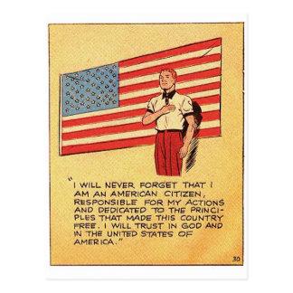 Retro Vintage Kitsch America 50s Communist Comic Postcard