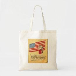 Retro Vintage Kitsch America 50s Communist Comic Tote Bag