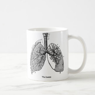 Retro Vintage Kitsch Anatomy Medical Lungs Coffee Mug