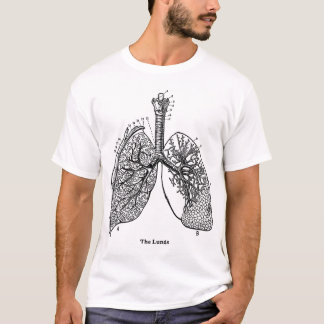 Retro Vintage Kitsch Anatomy Medical Lungs T-Shirt