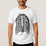 Retro Vintage Kitsch Anatomy Medical Rib Cage T Shirts