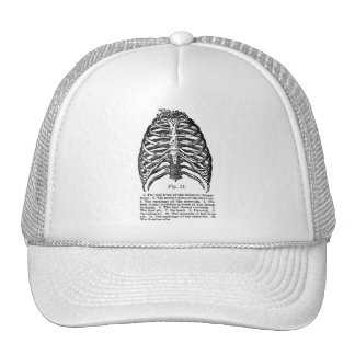 Retro Vintage Kitsch Anatomy Medical Rib Cage Trucker Hat