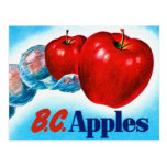 Retro Vintage Kitsch Apple Art B.C. Apples Postcards