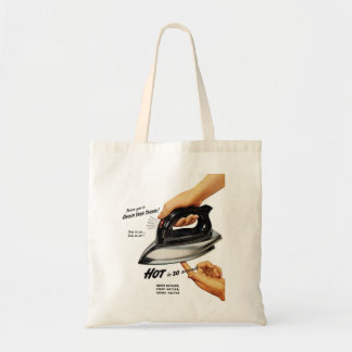 Retro Vintage Kitsch Appliance Electric Iron Tote Bag