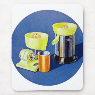 Retro Vintage Kitsch Appliance Fruit Juicer Art Mouse Pad