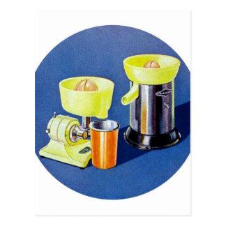 Retro Vintage Kitsch Appliance Fruit Juicer Art Postcard