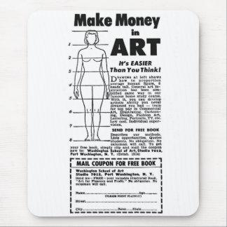 Retro Vintage Kitsch Art School Make Money in Art! Mouse Pad