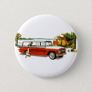 Retro Vintage Kitsch Auto 60's Station Wagon Trip Button