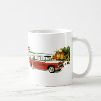Retro Vintage Kitsch Auto 60's Station Wagon Trip Coffee Mug