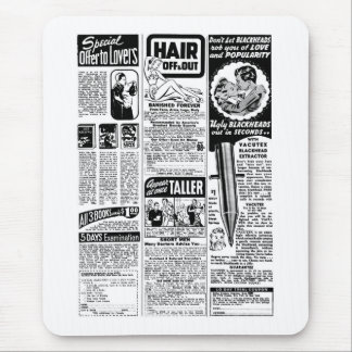 Retro Vintage Kitsch Bad Magazine Ads Mouse Pad