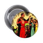 Retro Vintage Kitsch Ballroom Dancers 2 Inch Round Button