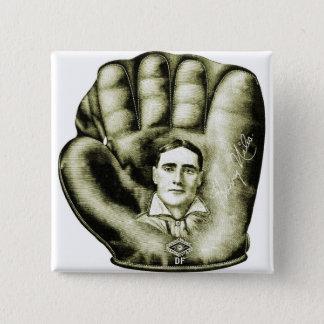 Retro Vintage Kitsch Baseball Glove Nibs Ad Art Button